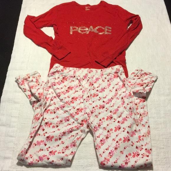 GAP Baby Boys Girls Size 3 Years 3T Red Bear Fair Isle Christmas Pajama PJ Set